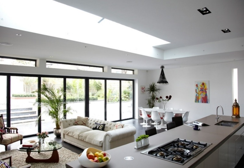 offene kuche insel - boisholz - Offene Kuche Wohnzimmer Modern