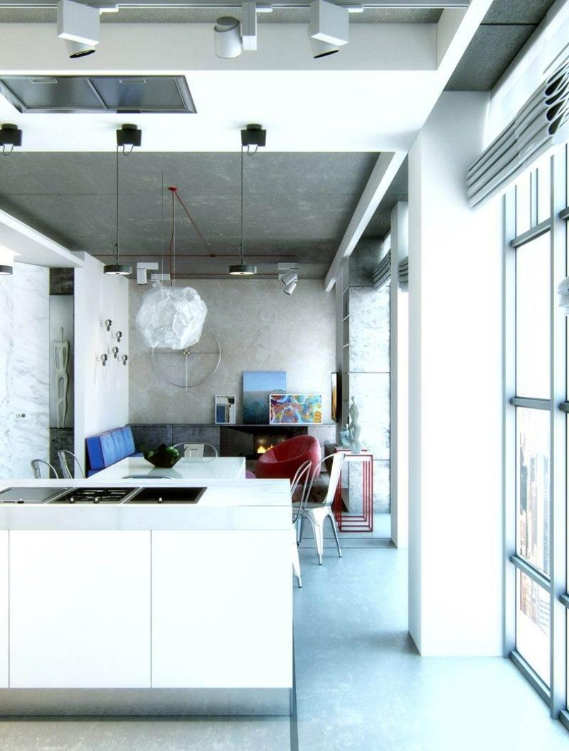 offene kueche wohnzimmer essbereich modern couch kuecheninsel ... - Offene Kuche Wohnzimmer Modern