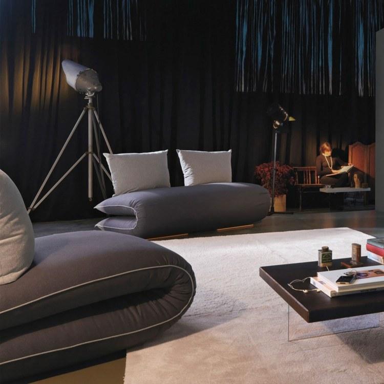 schlafsofa in grau fur modernes und funktionales wohnzimmer, Wohnzimmer dekoo