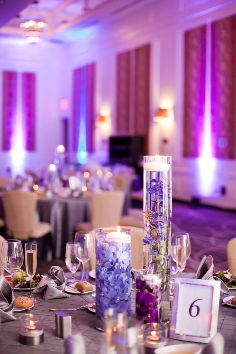 Tischdeko Hochzeit Blau Violett Tischdeko Tips