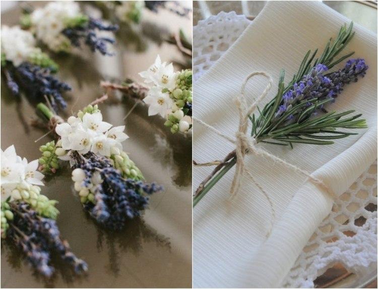 Tischdeko mit Lavendel  50 Ideen fr ein besonderes Fest