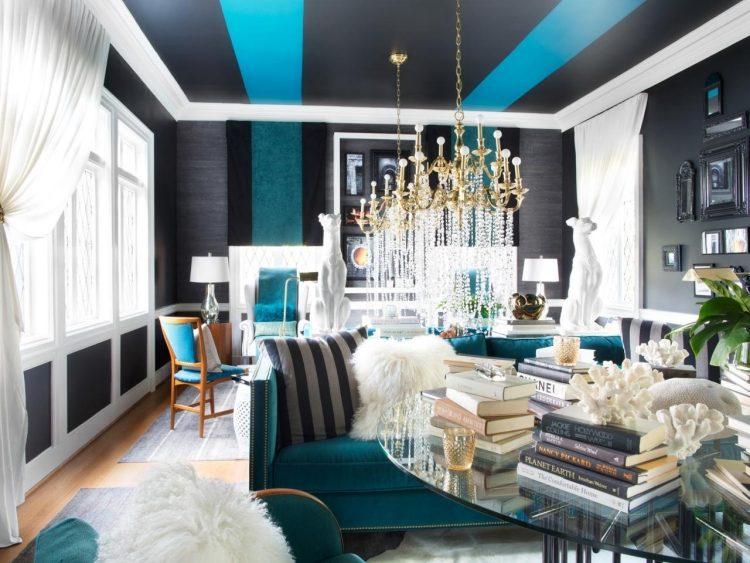 wohnzimmer schwarz weis turkis | moregs
