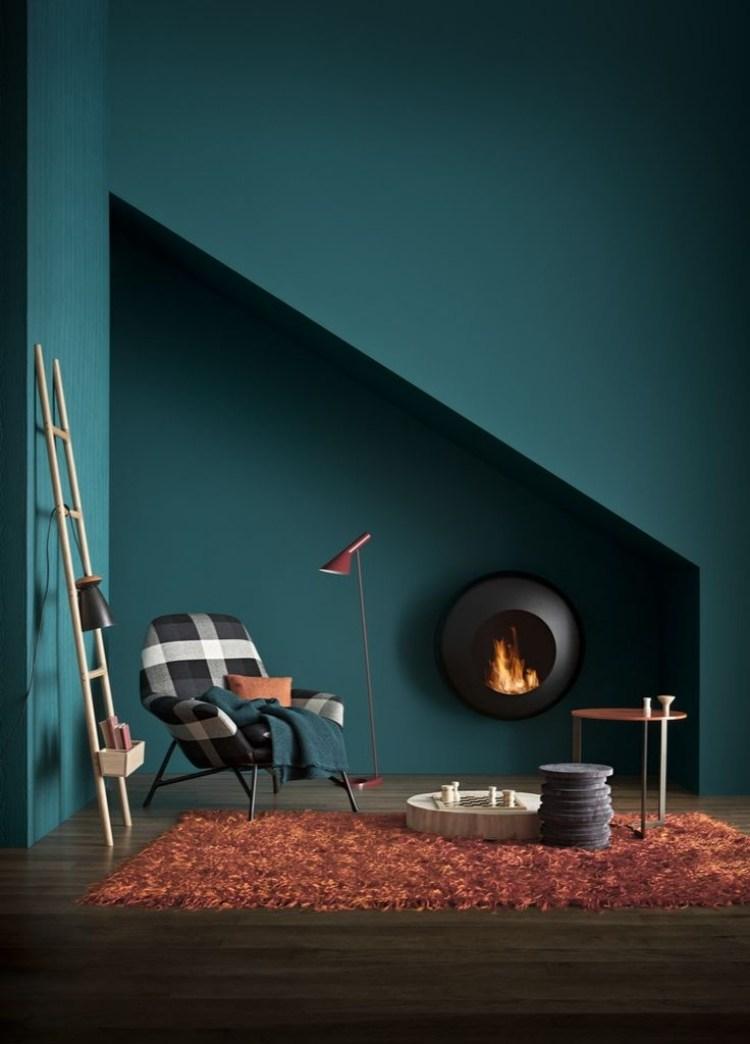 Wandfarbe Petrol  Wirkung und Ideen fr Farbkombinationen