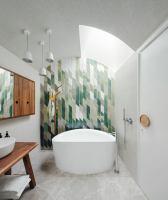 Moderne Wandgestaltung im Bad   30 Ideen und Beispiele