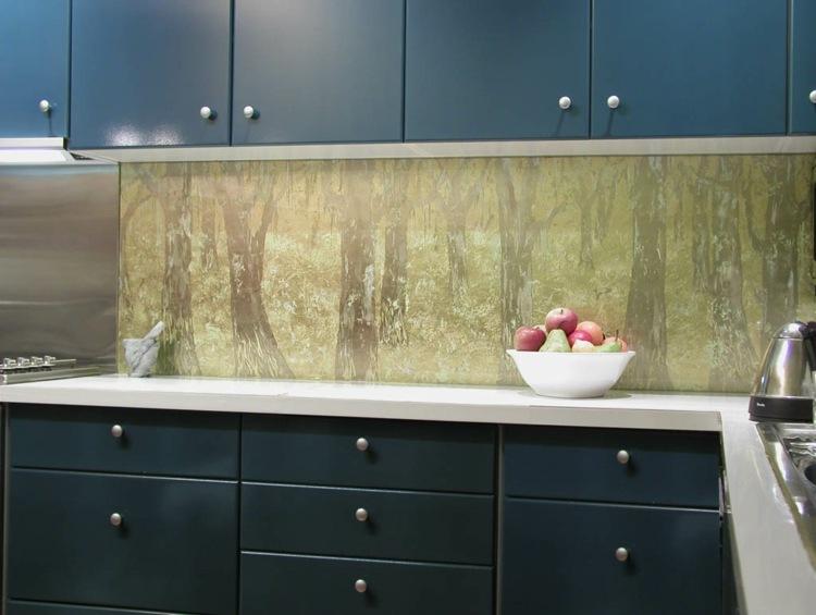 Fliesenspiegel Küche Blau Weiß | Nischenrückwand Küche ...