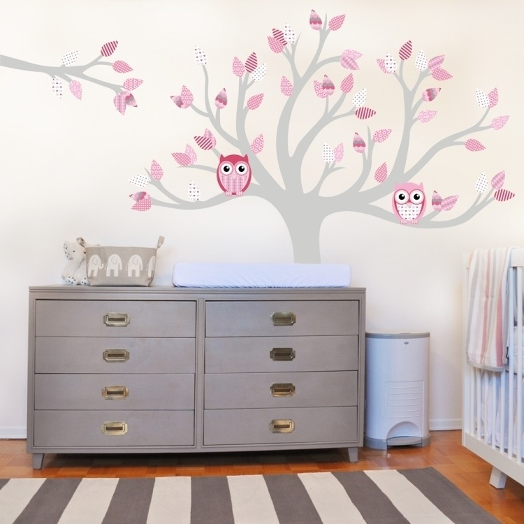 Baby Girl Nursery Removable Wallpaper Wandtattoos F 252 Rs Babyzimmer 50 S 252 223 E Gestaltungsideen