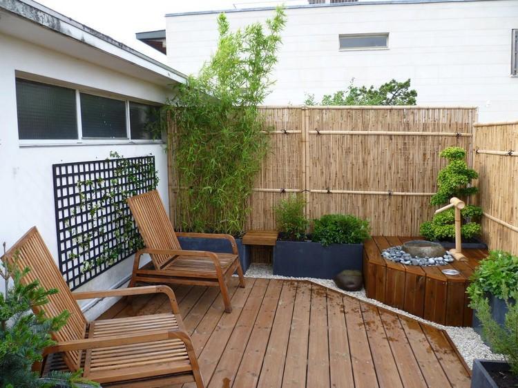 balkon sichtschutz bambus bauha - boisholz - Bambus Sichtschutz
