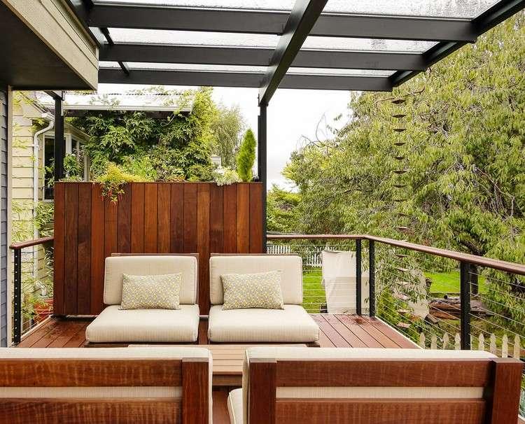 Balkon Sichtschutz aus Holz