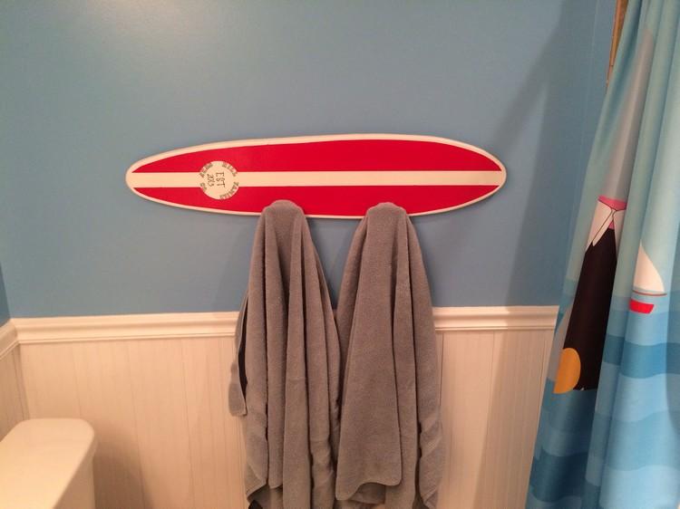 Kinderzimmer Deko  50 Ideen zum Motto Surfen und Surfbrett