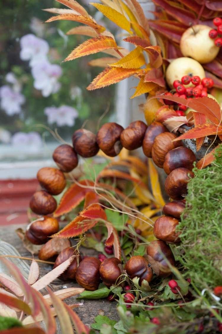 Basteln mit Kastanien  38 kreative Ideen fr Herbstdeko