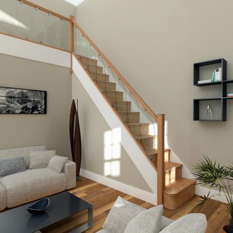 Moderne Innentreppen aus Holz in 50 Interieurs als Inspirationen