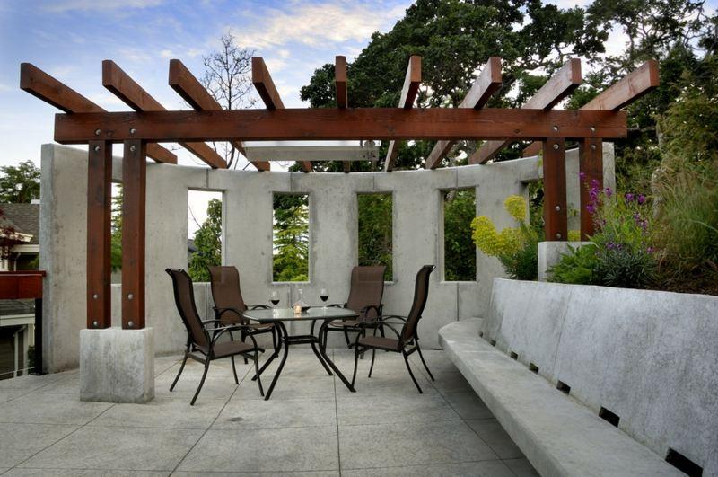 Moderne Pergola  30 schne Sitzpltze im Garten
