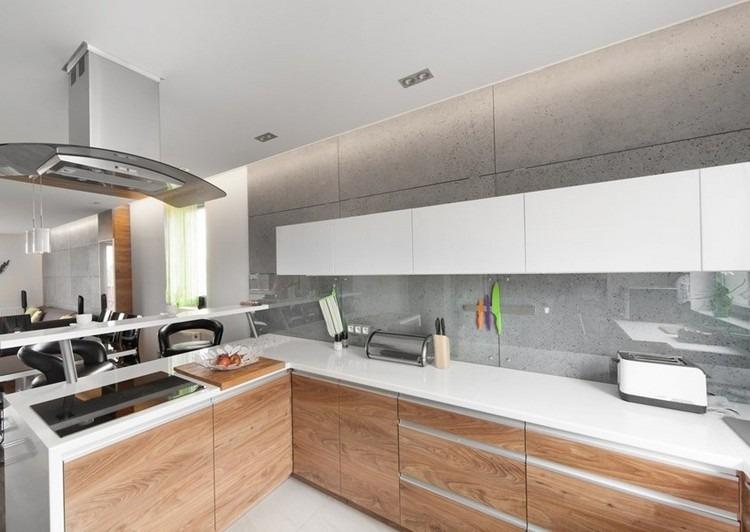 Arbeitsplatte Kuche Helles Holz Helles Wohnzimmer Mit Dunklem