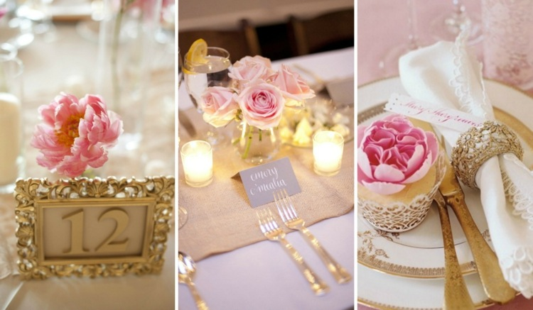 Tischdeko zur goldenen Hochzeit  25 Anregungen frs Fest