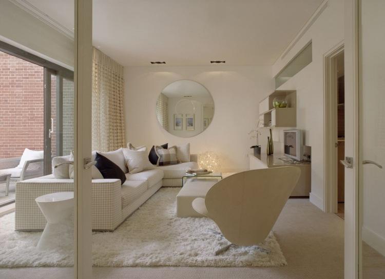 Einladendes Wohnzimmer in Wei einrichten  80 tolle Ideen