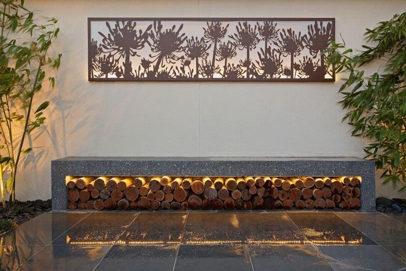 Brennholz lagern ideen wohnzimmer garten  Brennholz Lagern Ideen Wohnzimmer Garten | Möbelideen