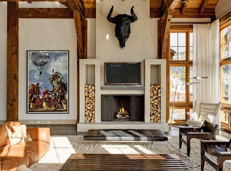 brennholz lagern ideen wohnzimmer garten | möbelideen