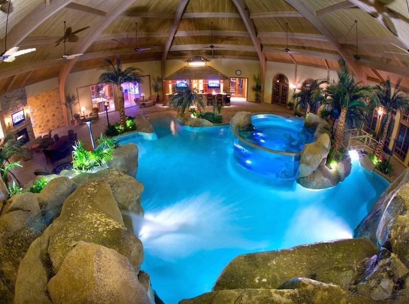 Indoor Pool bauen  50 traumhafte Schwimmbder