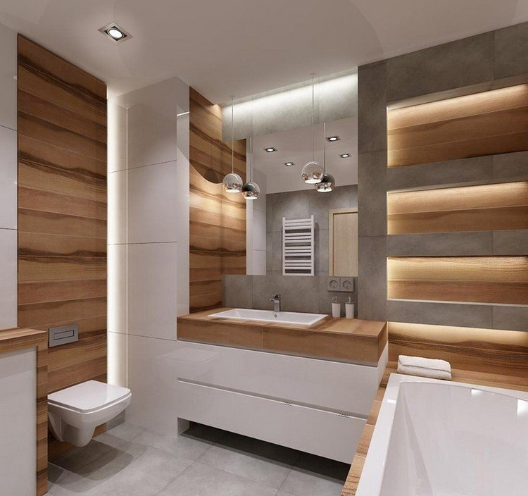 Kleines Bad zur WellnessOase  Mit Licht und Farbe gestalten