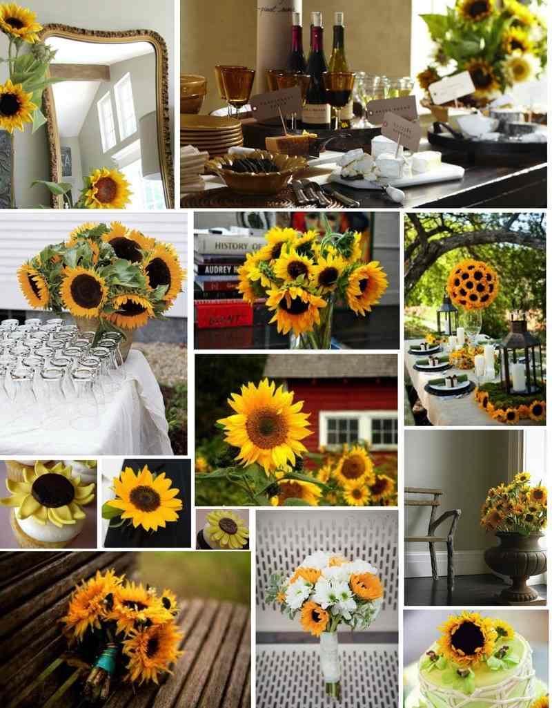 Hochzeit Tischdeko Sonnenblumen Deko Tische 812240 Dekoration