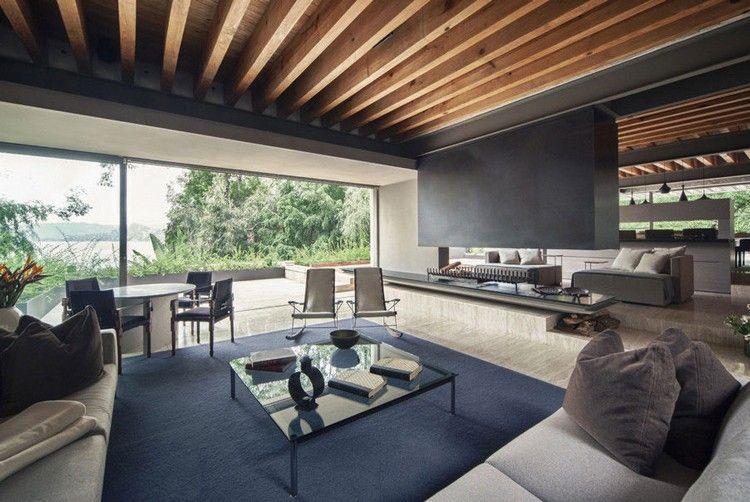 Wohnzimmer Decke Grau