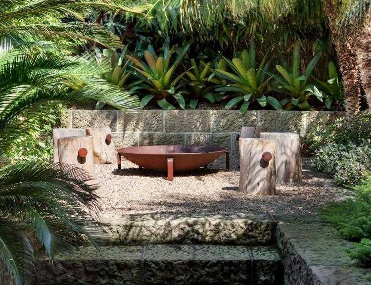 Sitzplatz mit Feuerstelle im Garten  50 Tipps und Ideen