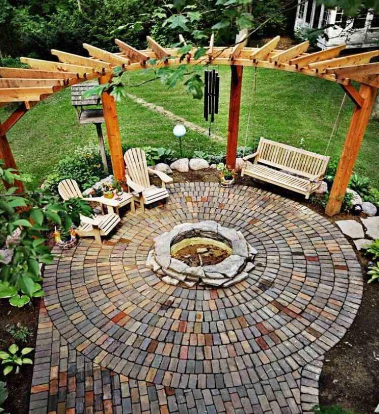 Gartengestaltung Pflege Sitzplatz Feuerstelle Garten Ideen | Moregs Vorgartengestaltung Ideen Tipps Pflege