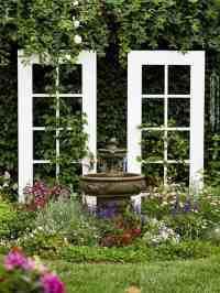 55 Ideen fr Gartendeko aus alten Fenstern und Tren