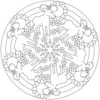 Herbst Mandalas Fr Kinder Zum Ausdrucken Und Ausmalen