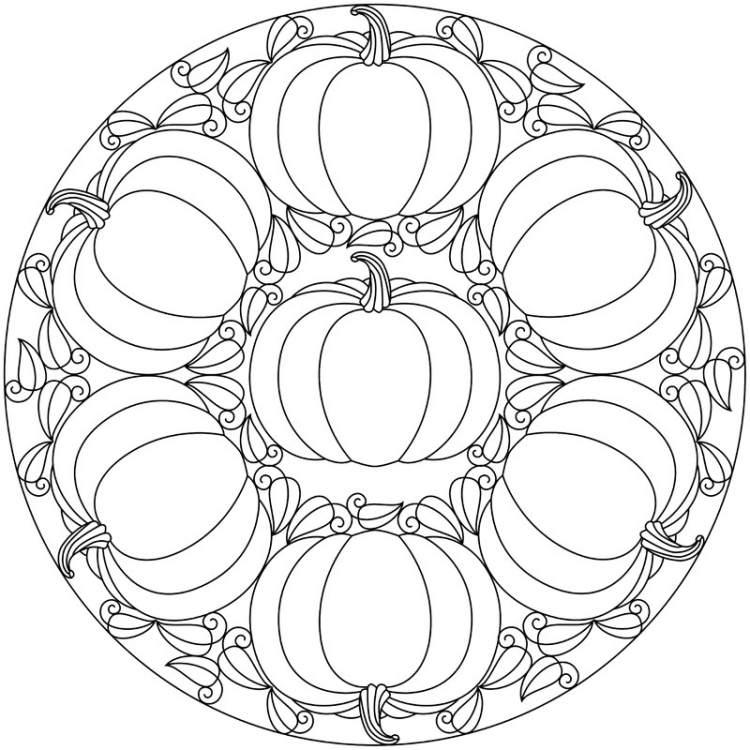 herbst mandala zum ausmalen  ausmalbilder