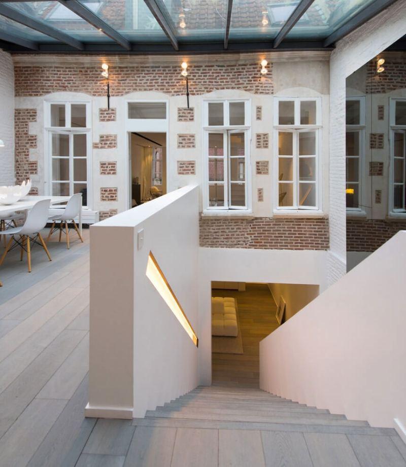 In SchwarzWei einrichten  minimalistische Luxus Wohnung