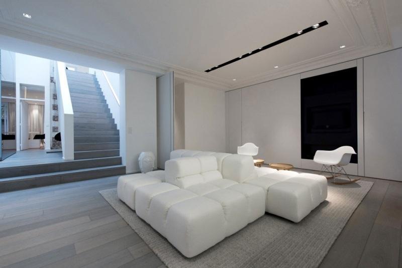 In SchwarzWei einrichten  Eine minimalistische Luxus