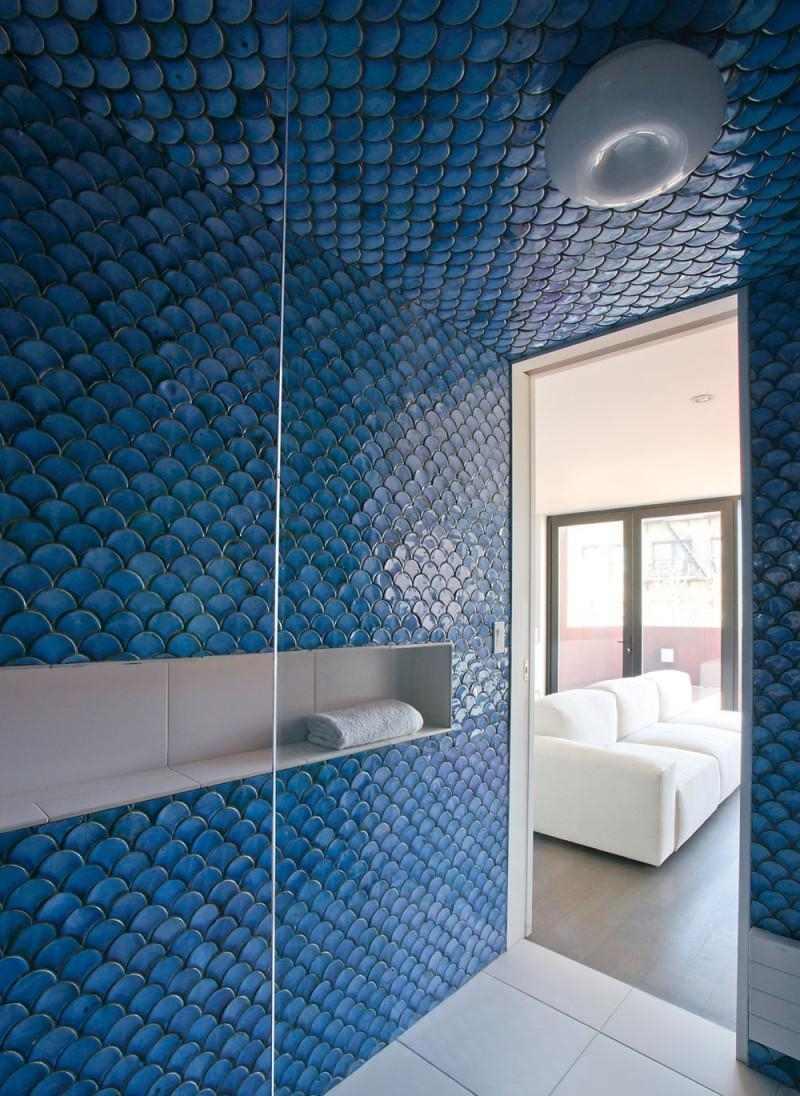 Badezimmer Fliesen Blau Bad Fliesen Blau