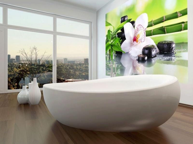 Badezimmer Ideen fr kleine Bder mit Fototapeten