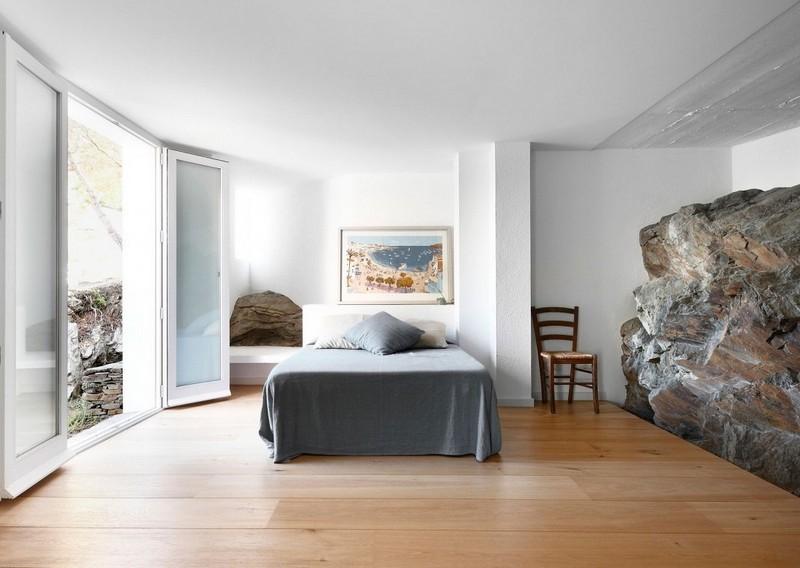 Schlafzimmer Ideen Weiss Naturstein Interieur Ideen