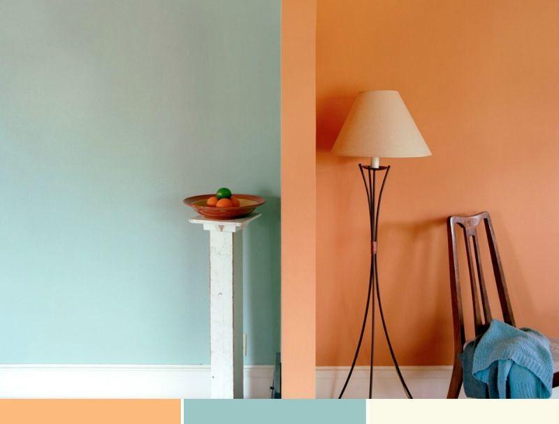 mit farbigen wanden lassen sich in wohnraumen harmonische ... - Farbige Wandgestaltung