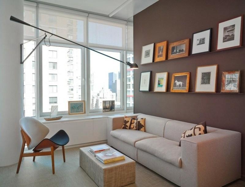 wandgestaltung wohnzimmer cappuccino | designmore - Wandgestaltung Braun