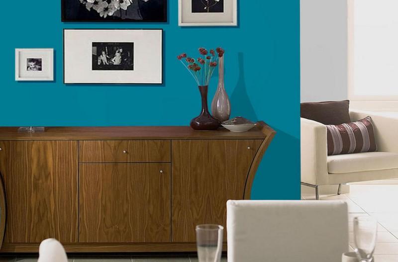 Wandgestaltung in Grau und Trkis  25 Farben Ideen