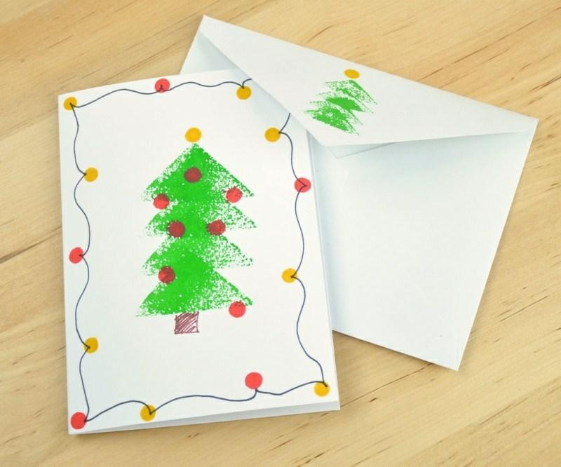 Weihnachtskarten Basteln Tannenbaum.Weihnachtskarten Selber Basteln Tannenbaum