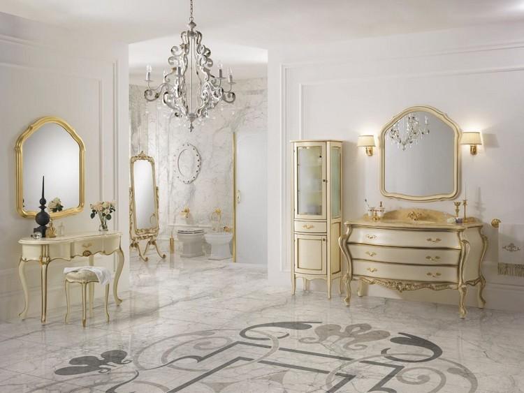 Badezimmer Mbel in Barock Stil mit prchtigen Ornamenten