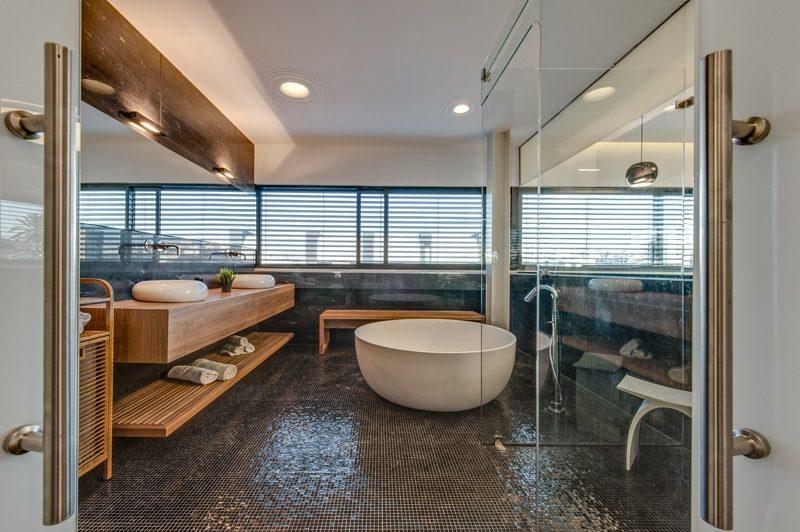 Boden und Wandgestaltung in Wei  Modernes Haus Design