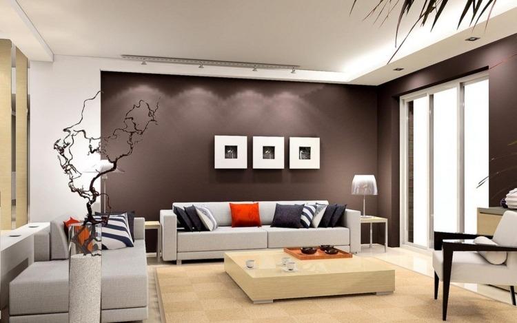 Wandgestaltung Wohnzimmer Cappuccino Wohnzimmer Wandgestaltung ... Wohnzimmer Cappuccino Weis