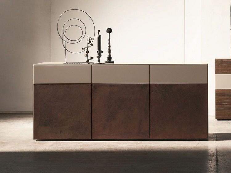 Big Table Von Bonaldo Aus Holz Und Cortenstahl | Mobilier