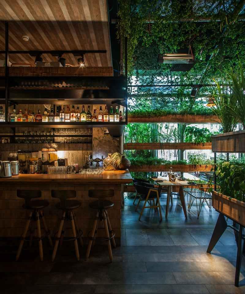 Gewrz Gartengestaltung im Restaurant Segev in Israel