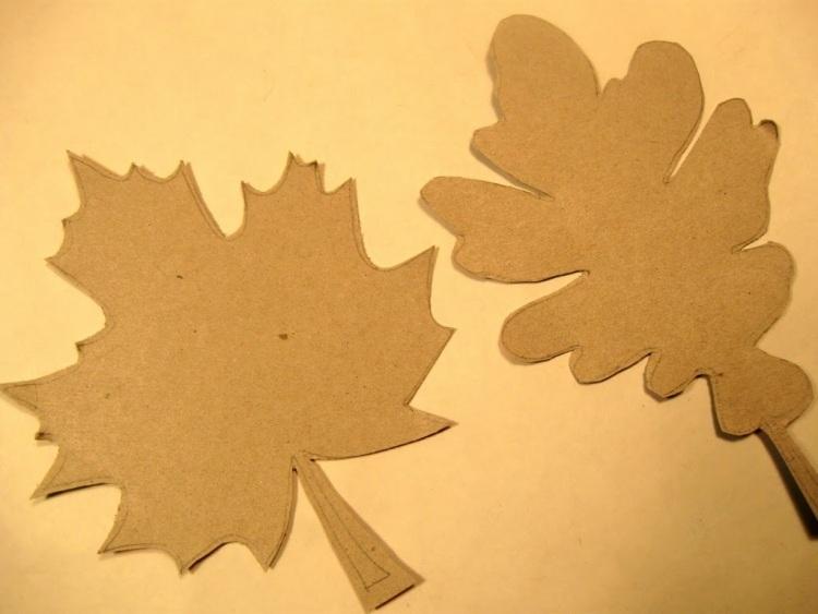 Mit Kindern Herbstdeko basteln  Ideen aus Papier