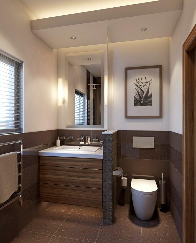 Ein kleines Badezimmer geräumig wirken lassen  50 Ideen