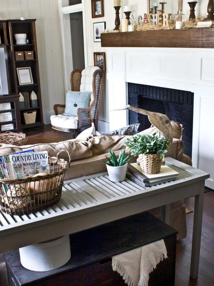 Konsolentisch hinter Sofa stellen - 51 Einrichtungsideen