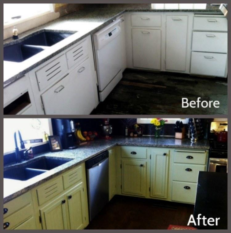 kitchen cabinet resurfacing articulating faucet küchenfronten austauschen - 37 vorher-nachher beispiele