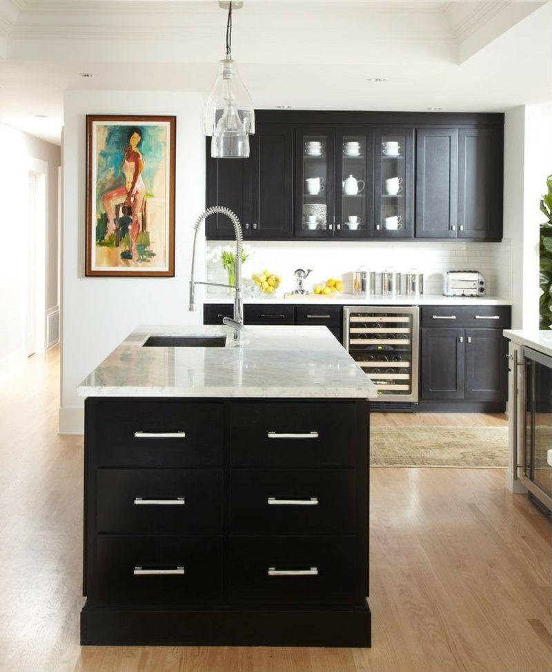 Modern Walnut And White Kitchen » Terrassenholz, Kuchen Dekoo