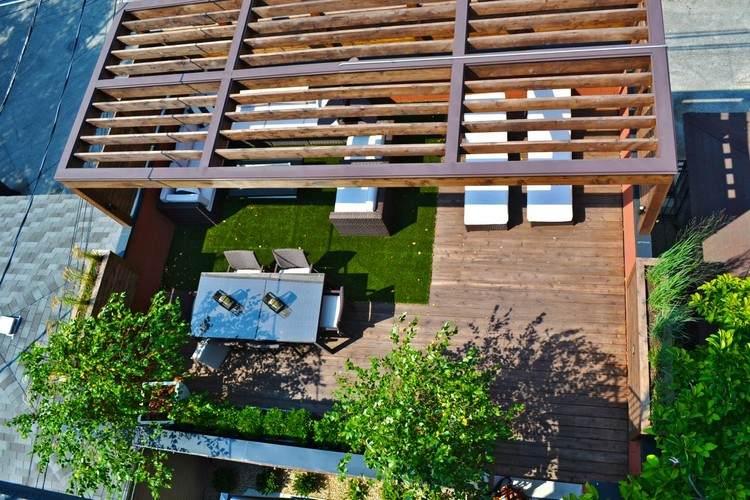 Terrassenuberdachung Holz Alu